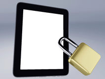 Locked tablet Royalty Free Stock Image