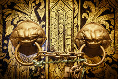 Locked temple door Stock Image