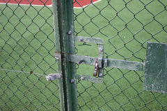 Locked tennis court Stock Photos