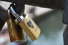 Locked to love Stock Photography