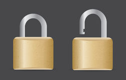 Locked and unlocked icons Stock Image