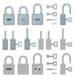 Locked or unlocked padlocks for secure web transaction Stock Image