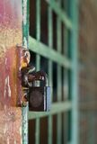 Locked Up. A Locked Barred Room/Cell Stock Photos