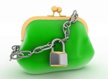 Locked up green purse Stock Image