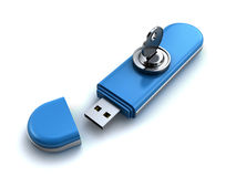 Locked usb flash Stock Photography
