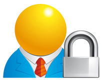 Locked user Royalty Free Stock Image