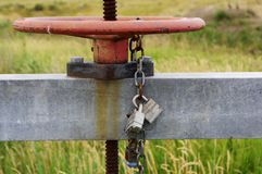 A locked valve. Stock Photos