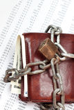 Locked wallet Stock Images