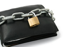 A locked wallet Royalty Free Stock Photography