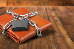 Locked Wallet Royalty Free Stock Images