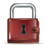 Locked wallet security concept Royalty Free Stock Image