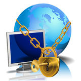 Locked web Royalty Free Stock Images