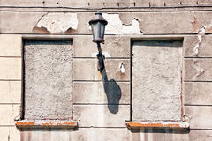 Locked windows bricked up Stock Images