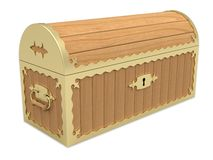 Locked Wooden Chest Stock Image