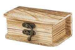 Locked wooden chest Stock Photography