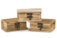 Locked wooden chests Stock Photos