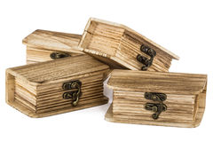 Locked wooden chests Royalty Free Stock Photography