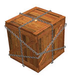 Locked Wooden Crate Stock Photo