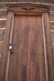 Locked Wooden Door Stock Image