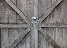 Locked wooden doors Royalty Free Stock Photos