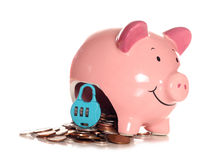 Locked into your mortgage piggybank. Cutout Stock Images