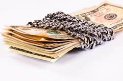Locken pieniądze Obrazy Royalty Free