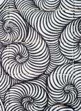 Lockenlinie Spiralenmuster Kunst-Zusammenfassungshintergrund Lizenzfreie Stockfotografie