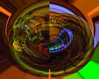 Lockenschablone des zukünftigen schönen Hintergrundes der Zusammenfassungsphantasie grafische, Zukunft, Karte vektor abbildung