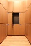 Locker. Design of the wood lockers room Stock Photography