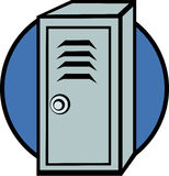 Locker. Colorful illustration of a locker with a combination lock Royalty Free Stock Images