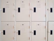 Locker closes. Locker box for highschool is closed Royalty Free Stock Photo