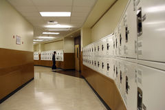Locker hallway Stock Photography