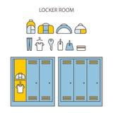 Locker icon set. Royalty Free Stock Photos