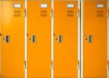 Locker. New locker in orange color Stock Photo