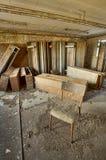 Locker room. Abandoned workshop locker room, urban exploration, hdr royalty free stock images