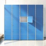 Locker Room. 3d rendering Stock Images
