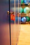 Locker room doors Royalty Free Stock Images