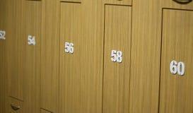Locker room doors Stock Image