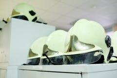 Locker room firemen Stock Images