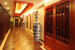 Locker room and a large collection of vases Stock Photo