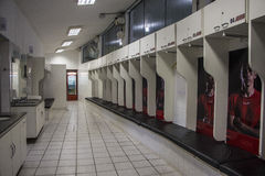 Locker room of Morumbi - Sao Paulo - Brazil Stock Photography