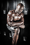Locker Room Muscle Fitness Man Royalty Free Stock Photos