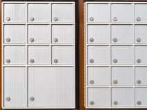Locker rows of rural Canada Post metal mail box Royalty Free Stock Photo