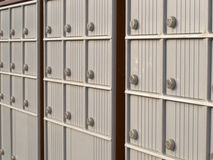 Locker rows of rural Canada Post metal mail box Royalty Free Stock Photography