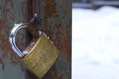 A locker in the snow Stock Image