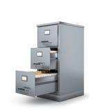 Locker for storing documents. 3D illustration Royalty Free Stock Photos