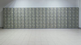 Locker. Used in the workplace stock photo