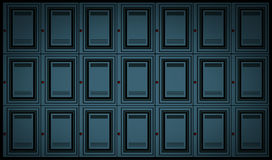 Locker wall background Stock Images