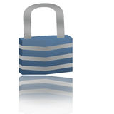 Locker on white background Royalty Free Stock Photography