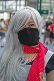 Lockern Sie im Kostüm an einer LA Anime-Ausstellung 2013 auf Stockbilder